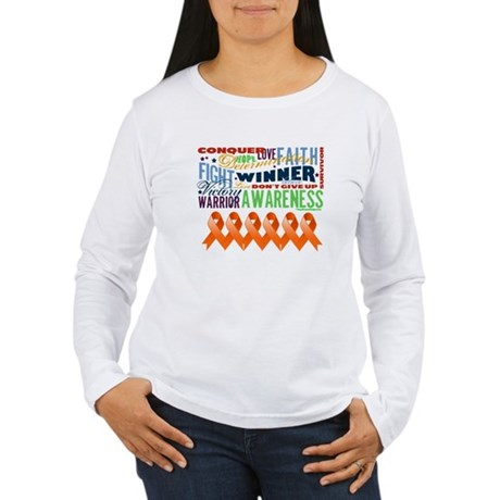 Empowering Leukemia Women's Long Sleeve T-Shirt