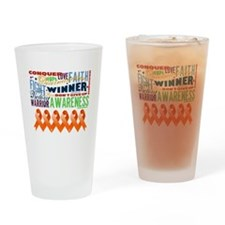 Empowering Leukemia Drinking Glass