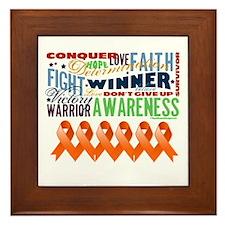 Empowering Leukemia Framed Tile
