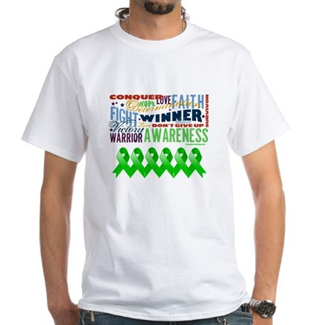 Powerful Bile Duct Cancer White T-Shirt