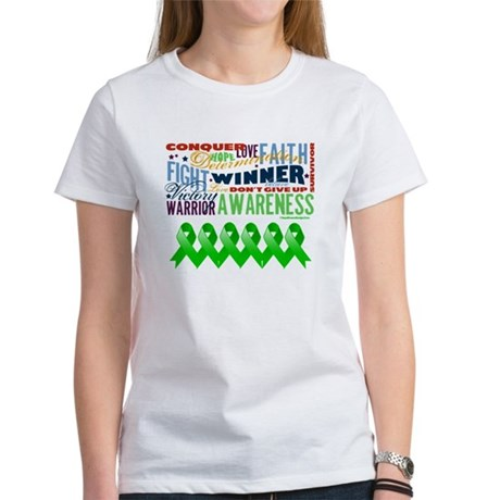 Powerful Bile Duct Cancer Women's T-Shirt