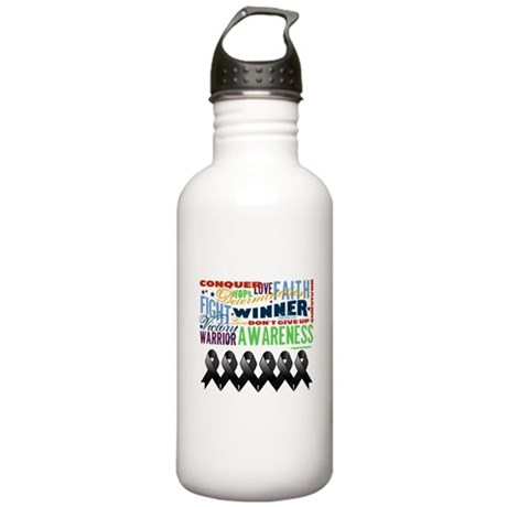 Empowering Skin Cancer Stainless Water Bottle 1.0L