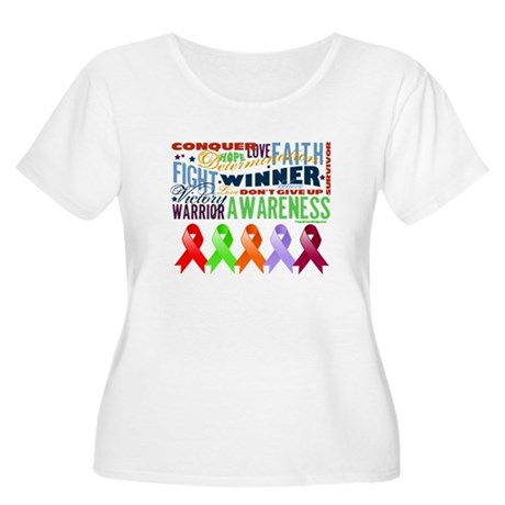 The Blood Cancers Women's Plus Size Scoop Neck T-S