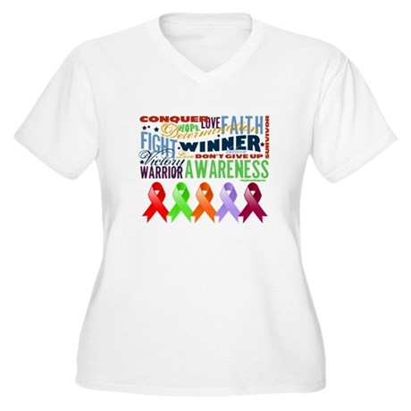 The Blood Cancers Women's Plus Size V-Neck T-Shirt