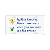Faith is Knowing V3 Aluminum License Plate