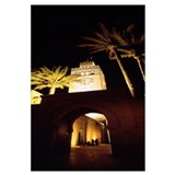 Morocco, Marrakech, Koutoubia Minaret, night