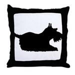 Schnauzer Silhouette Throw Pillow