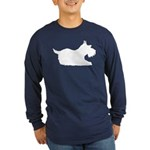 Schnauzer Silhouette Long Sleeve Dark T-Shirt