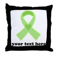 Personalized Celiac Disease Ribbon Throw Pillow