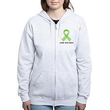 Personalized Celiac Disease Ribbon Zip Hoodie