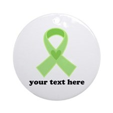 Personalized Celiac Disease Ribbon Ornament (Round
