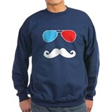 3D Glasses & Stache Sweatshirt