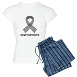 Personalized Gray Ribbon pajamas