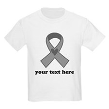 Personalized Gray Ribbon T-Shirt