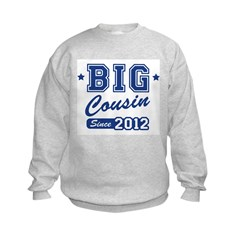 Big Cousin Since 2012 Kids Sweatshirt