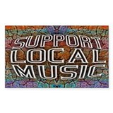Support Local Music Decal