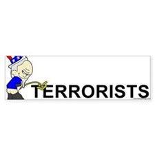 Piss On Terrorists Bumper Bumper Sticker