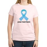 Personalized Light Blue Ribbon T-Shirt