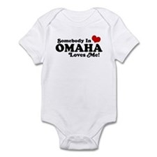 Somebody In Omaha Loves Me Infant Bodysuit