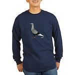 Flying Flight Teager Long Sleeve Dark T-Shirt