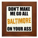 Baltimore Baseball Framed Tile