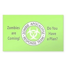 Zombies Neon Green Decal