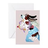 Basset hound valentine's day Greeting Cards (10 Pack)