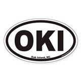 Oak Island OKI Euro Oval Decal