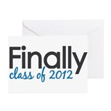 Finally Class of 2012 Grad Greeting Cards (Pk of 1