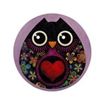 "Owl's Hatch 3.5"" Button"