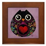 Owl's Hatch Framed Tile
