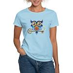 Owl on Skeleton Key Women's Light T-Shirt