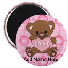 Personalized Cute pink valent Magnet