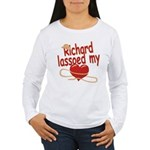 Richard Lassoed My Heart Women's Long Sleeve T-Shi
