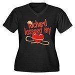 Richard Lassoed My Heart Women's Plus Size V-Neck