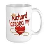 Richard Lassoed My Heart Large Mug