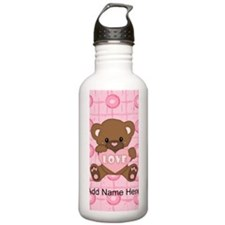 Personalized Cute pink valent Water Bottle