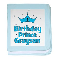 1st Birthday Prince GRAYSON! baby blanket