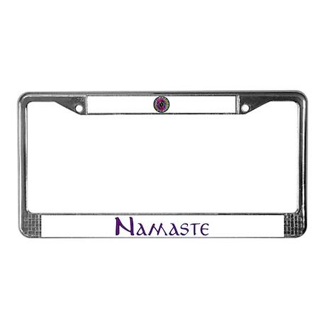 Rainbow Mandala License Plate Frame