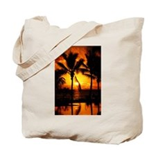 Cute Tropical sunset Tote Bag