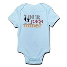 Your pace or mine Orange Infant Bodysuit
