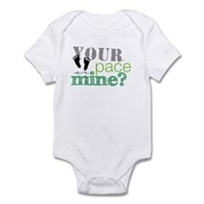 Your pace or mine Lime Infant Bodysuit