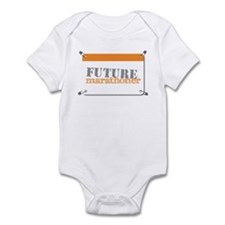 Future Marathoner Orange Infant Bodysuit