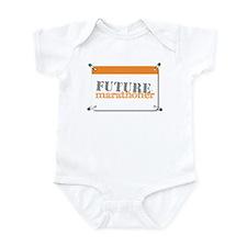 Future Marathoner Orange Onesie