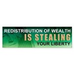 No Redistribution of Wealth Sticker (Bumper)