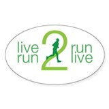 Live 2 Run Men's Decal