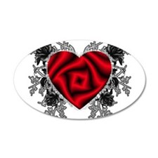 Heart-N-Thorns 38.5 x 24.5 Oval Wall Peel