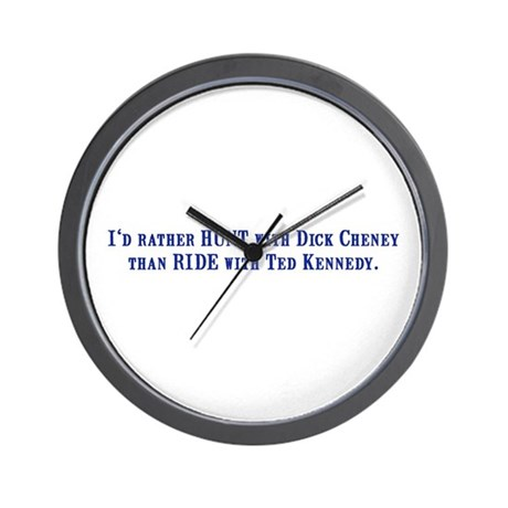 Ride with Ted Kennedy Wall Clock