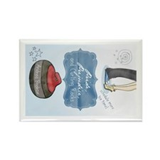 Unique Curling rocks Rectangle Magnet (10 pack)