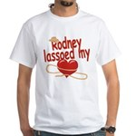 Rodney Lassoed My Heart White T-Shirt